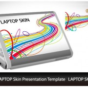 Link toAbstract laptop sticker vector material 04