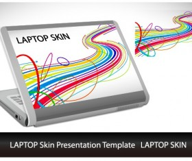 Abstract Laptop sticker vector material 04