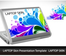 Abstract Laptop sticker vector material 05