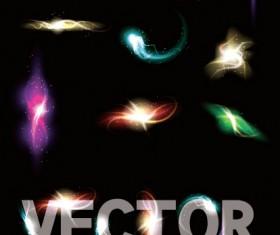 Light smoke effects design vector 01