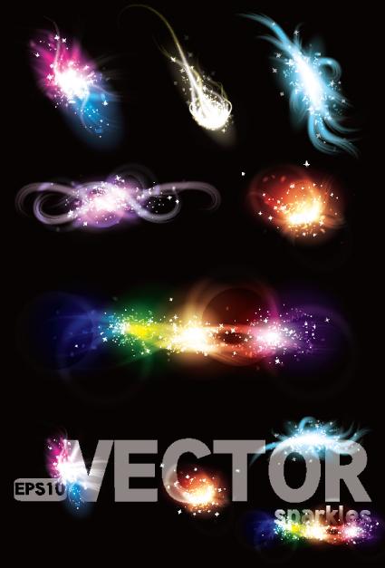 Light smoke effects design vector 02
