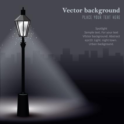 Set of Lighting on the street design vector 02