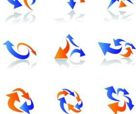 Vector Logo of abstract arrow design elements 01