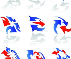 Vector Logo of abstract arrow design elements 02