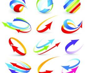 Vector Logo of abstract arrow design elements 04