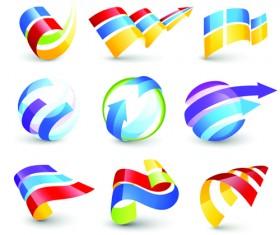 Vector Logo of abstract arrow design elements 05