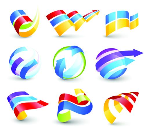 Vector Logo Of Abstract Arrow Design Elements 05 Vector