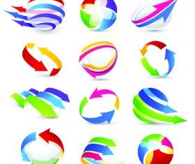 Vector Logo of abstract arrow design elements 06