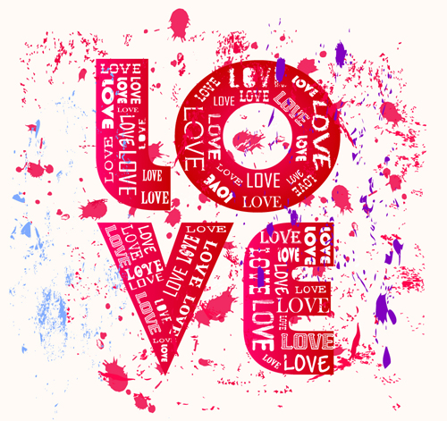 set of vintage love design elements vector 01 free download