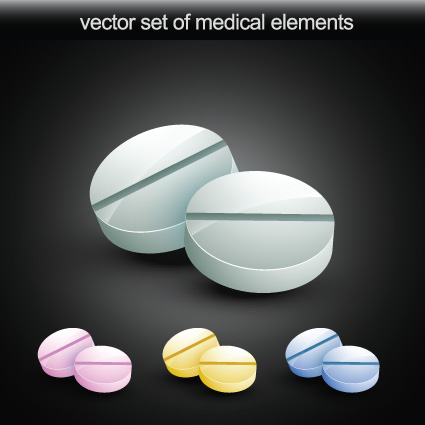 Set of Medical elements vector graphics 02