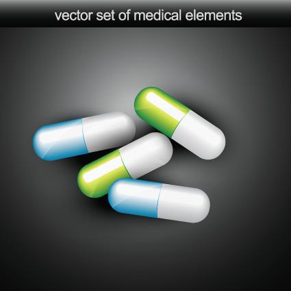 Set of Medical elements vector graphics 03