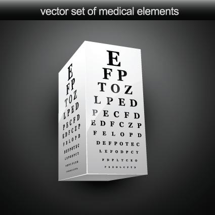 Set of Medical elements vector graphics 05