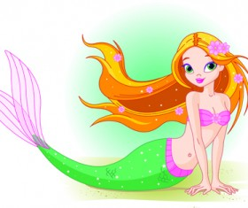 Mermaid vector graphics 02