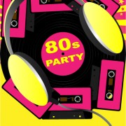 Link toElements of music 80s party flyer design vector 03