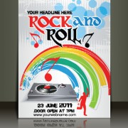 Link toCreative music flyer rock and roll design vector 03