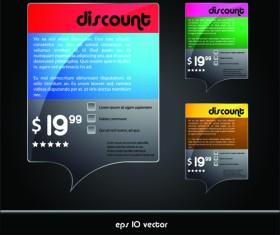 Online Store Discount labels vector 01