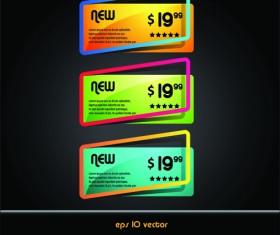 Online Store Discount labels vector 02