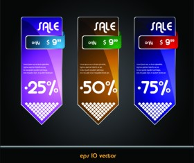 Online Store Discount labels vector 03