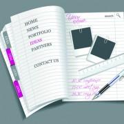 Link toVector set of open notepad design elements 02