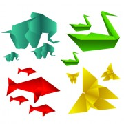 Link toVarious origami animals design vector material 01