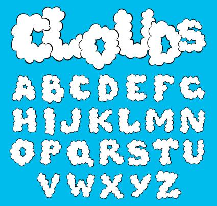 Cute Original Alphabet Set Vector 02