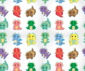 Set of Paisley baby patterns vector 04