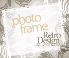 Vintage Photoframe design vector material 01