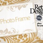 Link toVintage photoframe design vector material 02