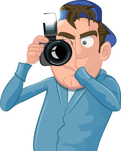 funny cartoon photographer vector set 01 vector cartoon free download