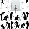Elements of Photographic studio photographer design vector 02