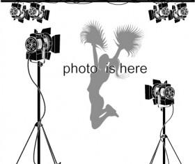 Elements of Photographic studio photographer design vector 04