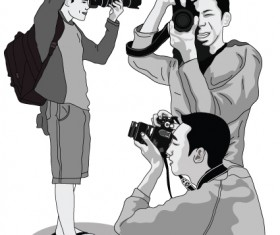 Elements of Photographic studio photographer design vector 05