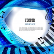 Link toSet of piano backgrounds vector graphics 03