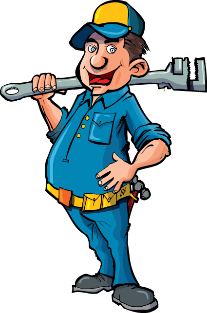 Plumber : ... plumber design elements vector 01 download name funny plumber