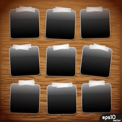 Set Of Polaroid Photo Frames Vector Material 02 Vector