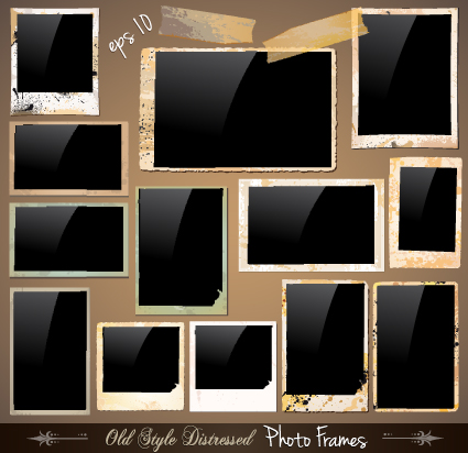 Set Of Polaroid Photo Frames Vector Material 03 Free Download