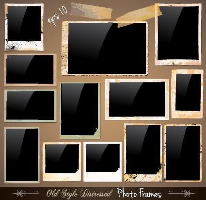 Set Of Polaroid Photo Frames Vector Material 03 Over