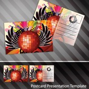 Link toCreative postcard design elements vector set 05
