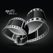 Link toElements of realistic 3d film reel design vector set 01