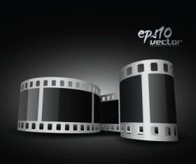 Elements of Realistic 3d film reel design vector set 04