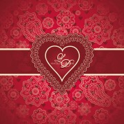 Link toRed style heart with valentine day vector 01