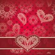 Link toRed style heart with valentine day vector 04