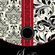 Link toRetro dark floral backgrounds vector 02