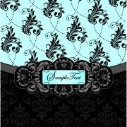 Link toRetro dark floral backgrounds vector 03