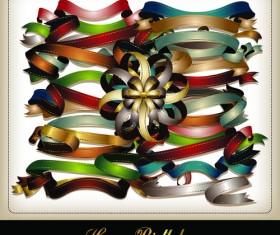 Set of Different Ribbon design vector 02