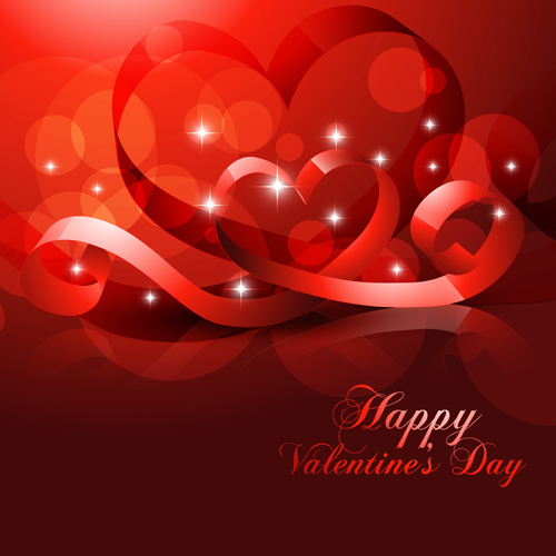 Romantic Happy Valentine Day Cards Vector 10 Free Download