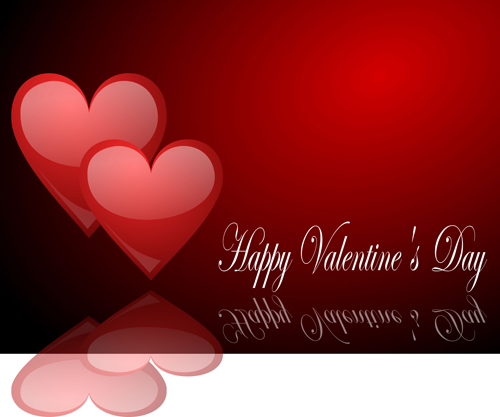 Romantic Happy Valentine Day Cards Vector 12 Free Download