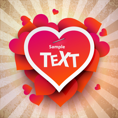Romantic Happy Valentine day cards vector 13 Vector Card Vector – Happy Valentines Day Cards