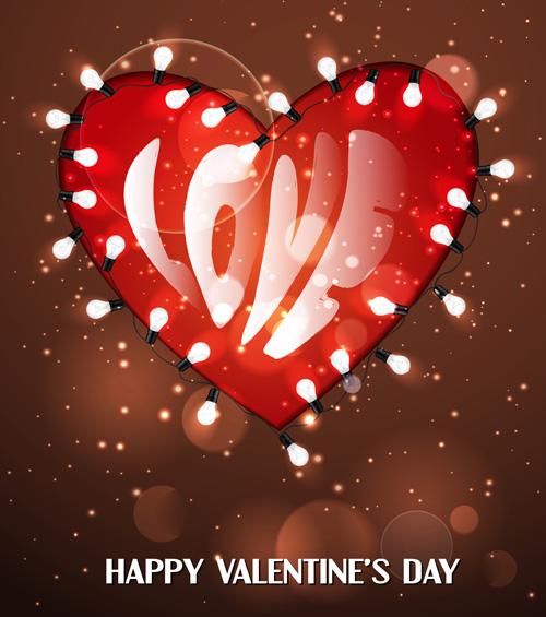 Romantic Happy Valentine day cards vector 19  Vector Card Vector