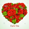 Roses with Valentine Day Cards vector graphics 05